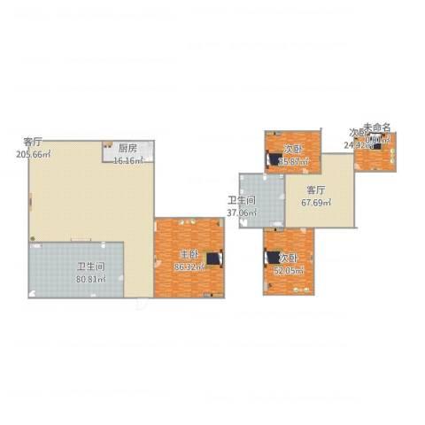 星台花园4室2厅2卫1厨780.00㎡户型图