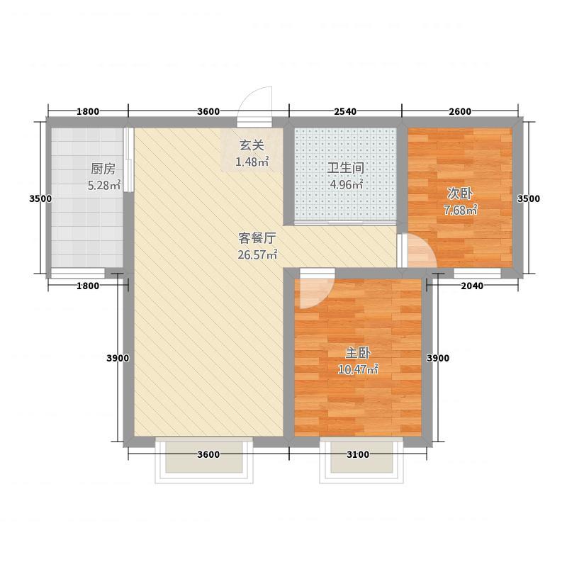 海棠公寓B8442-2-1户型