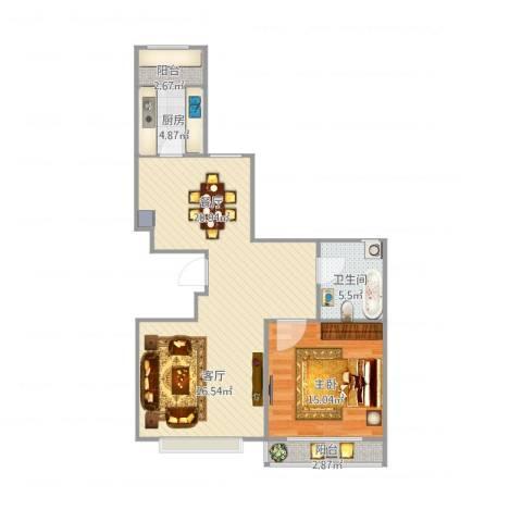 先春园泉春里1室1厅1卫1厨98.00㎡户型图
