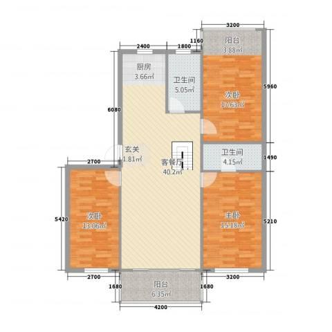 梧桐苑3室1厅2卫0厨138.00㎡户型图