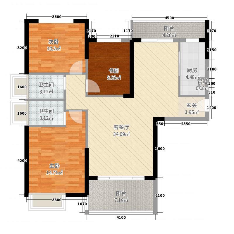 阳光花园145.00㎡户型4室