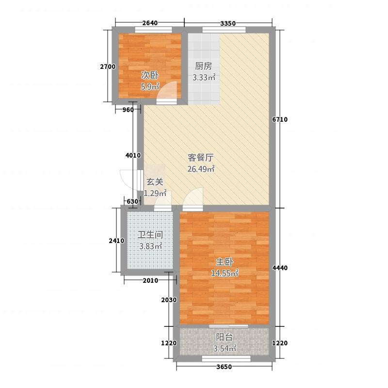 金山・世豪御苑置业单-创意两居-约76户型
