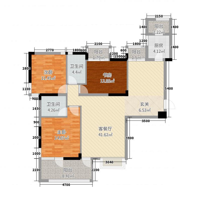 阳光公寓12.00㎡户型3室