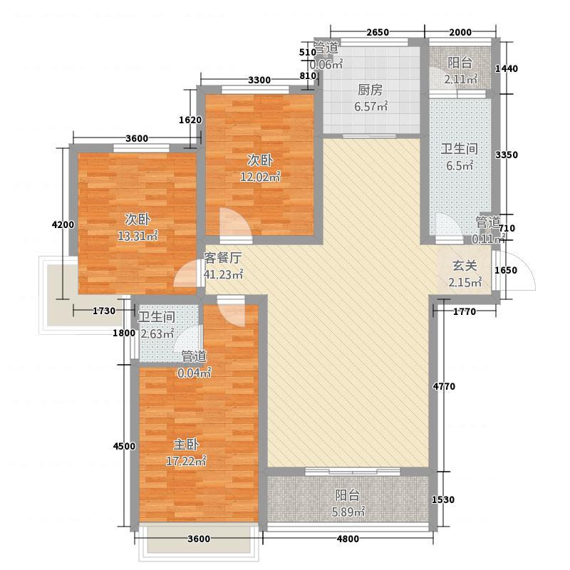 永大・观邸1户型3室2厅1卫1厨