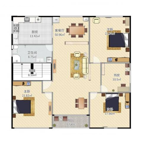 自建房4室1厅1卫1厨213.00㎡户型图