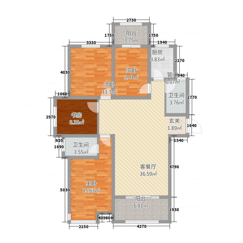 万润・绿景园14.17㎡42319_000户型3室2厅2卫1厨