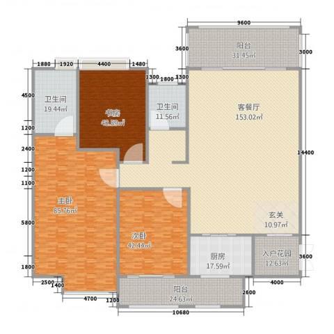 立�・领域3室1厅2卫1厨472.72㎡户型图