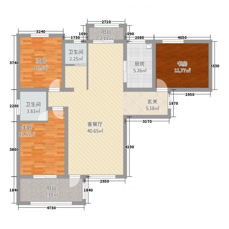 鹤壁星悦湾138.70㎡B1/B2户型3室2厅2卫1厨