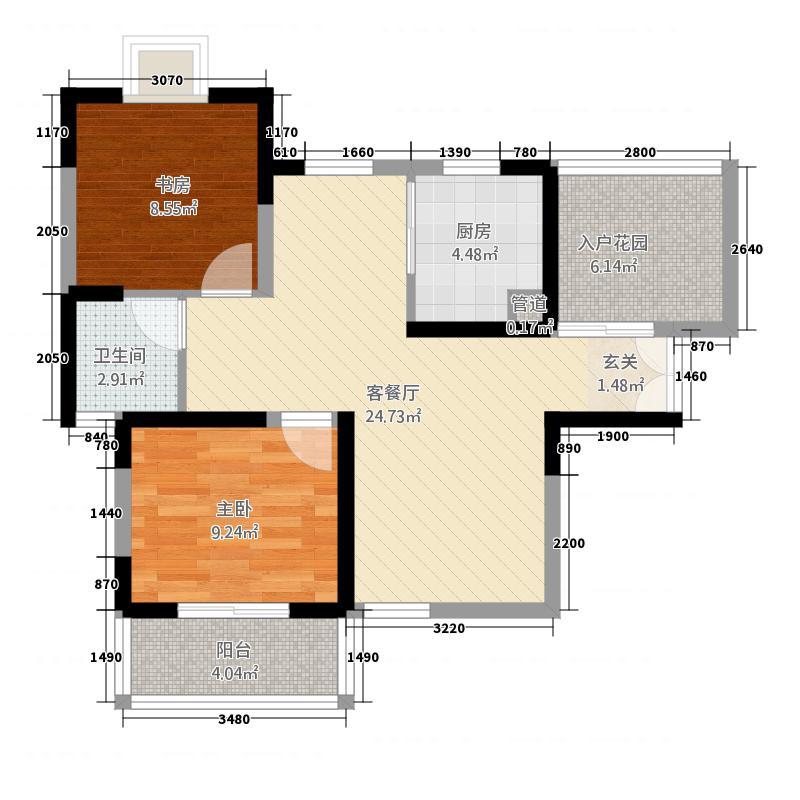 两室两厅一卫88㎡