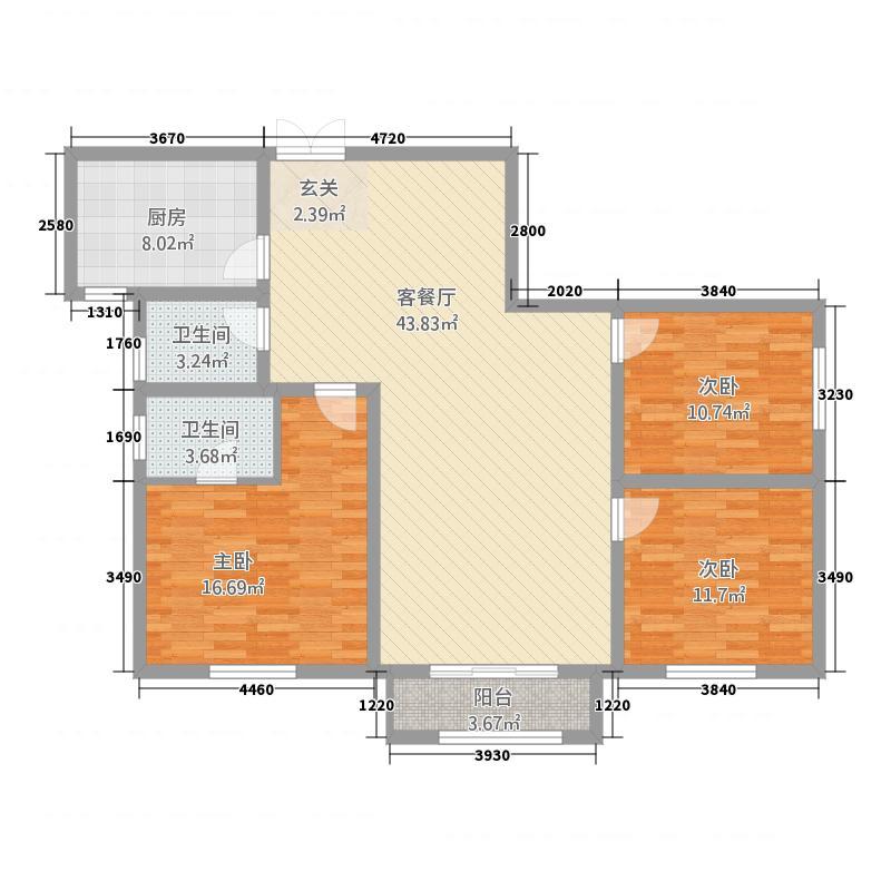 永威家园143.80㎡户型