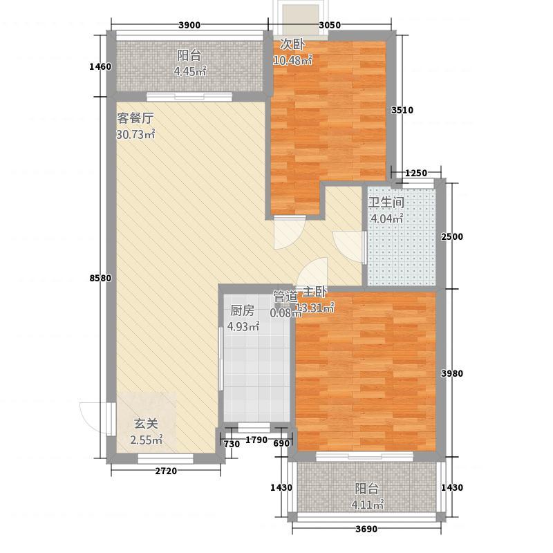 学府街坊21487.14㎡QQ图片户型2室2厅1卫1厨