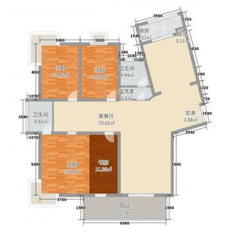 TOP世界观3室2厅2卫1厨217.00㎡户型图