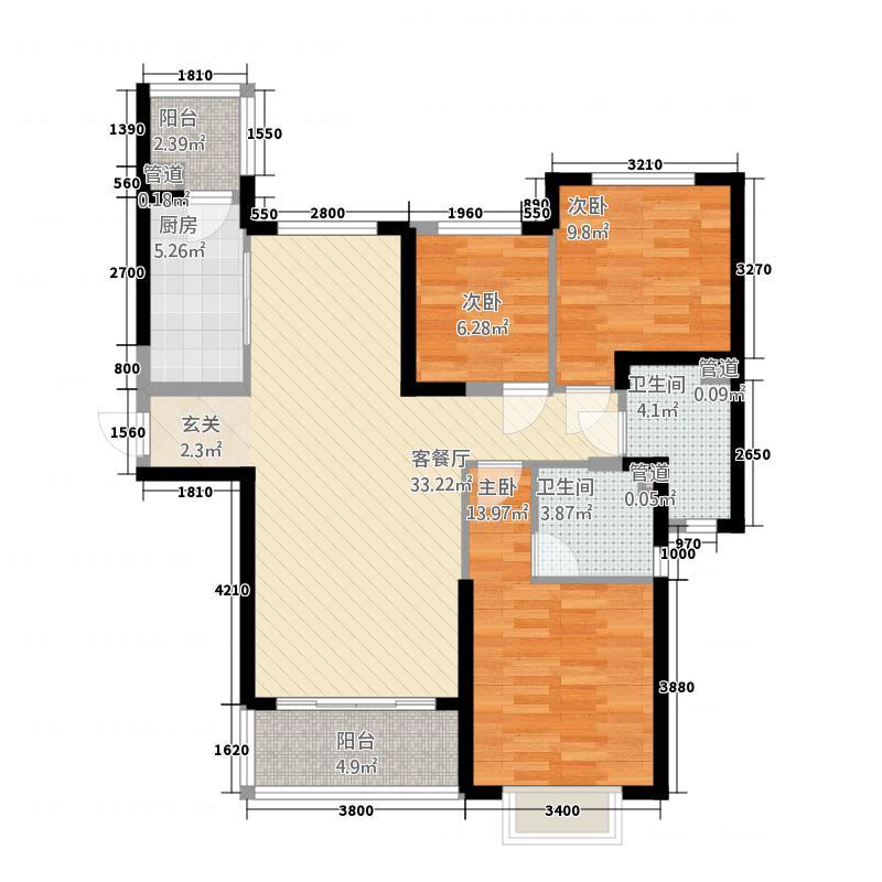 恒大帝景3322121.75㎡户型3室2厅2卫1厨