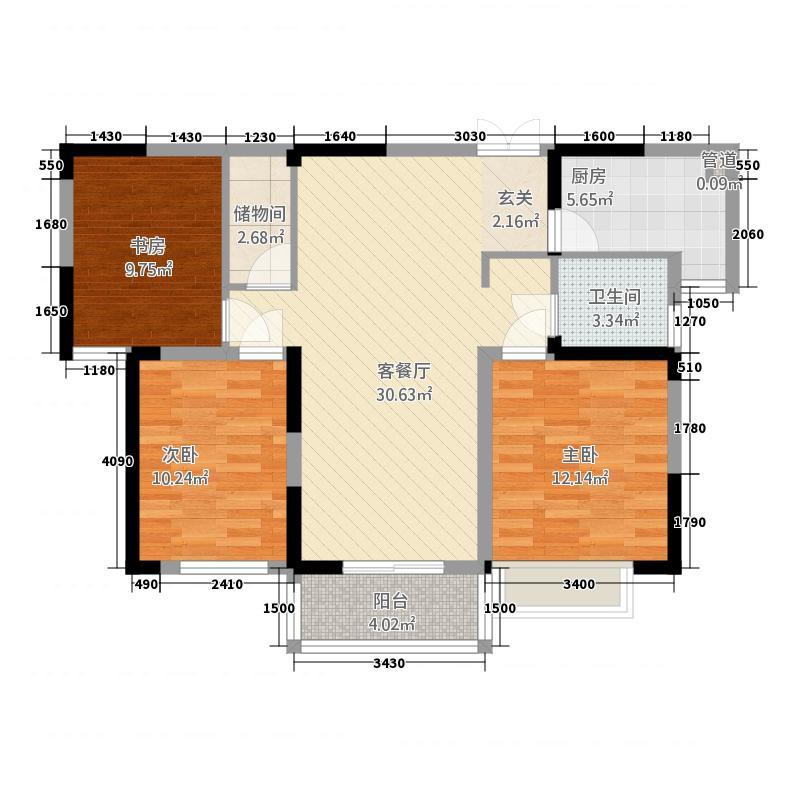 金昌花苑112.00㎡户型3室