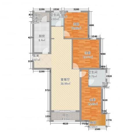 天佐奥城3室1厅2卫1厨3145.00㎡户型图