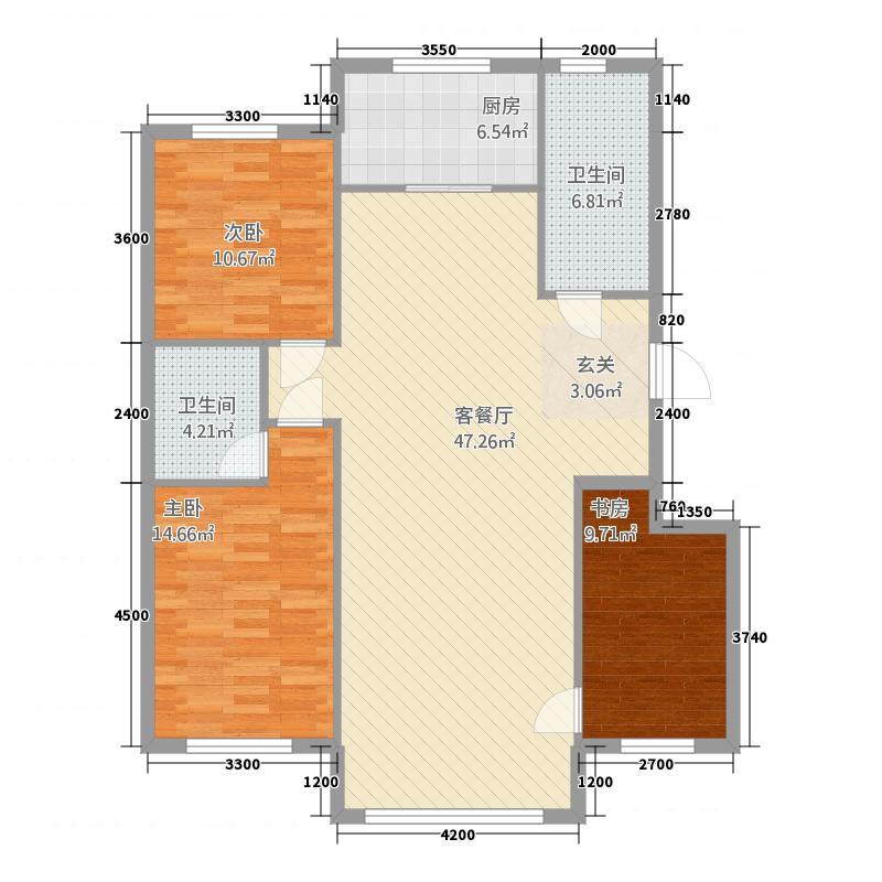 威尼斯水城12.00㎡户型3室2厅2卫