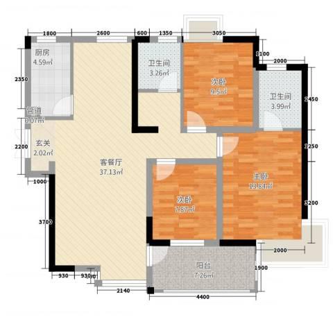 世纪城3室1厅2卫1厨2112534.00㎡户型图