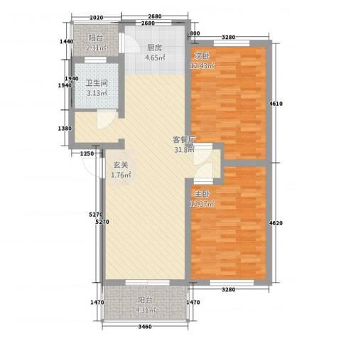 三和家园2室1厅1卫0厨66.35㎡户型图
