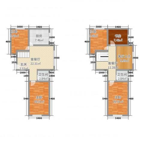 沿江国际5室2厅2卫1厨115.94㎡户型图
