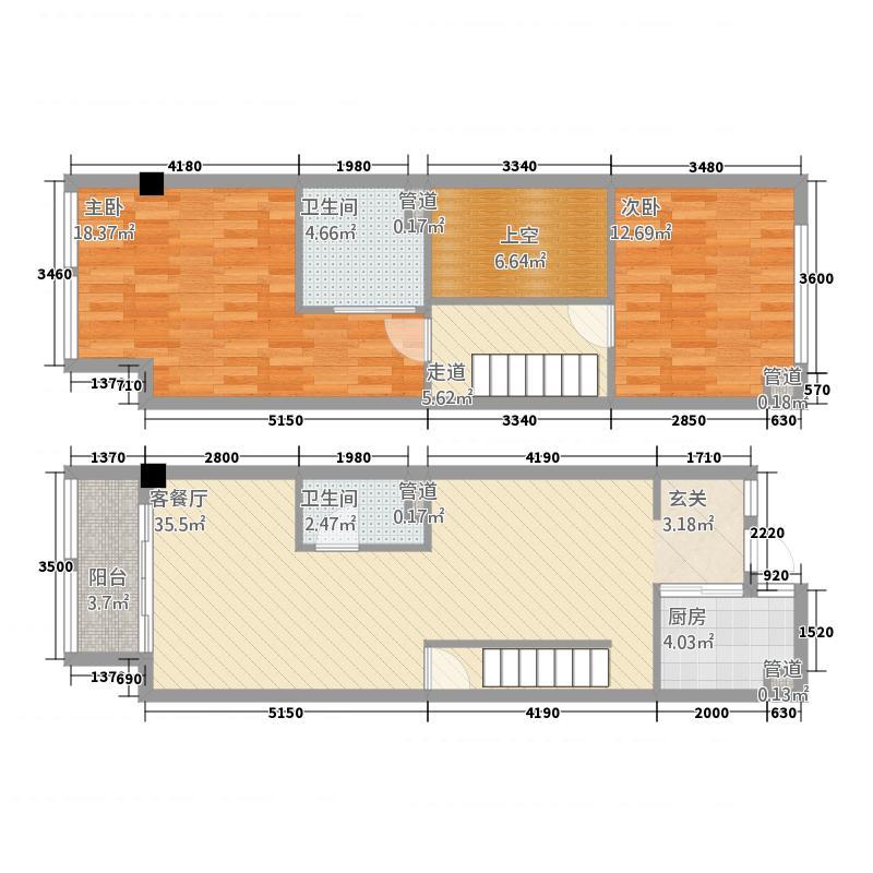 台北晶�32266.20㎡B户型3室2厅2卫1厨