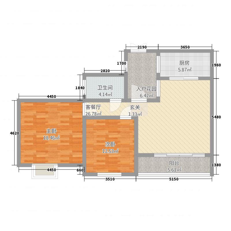 景胜苑115.25㎡户型3室2厅2卫1厨
