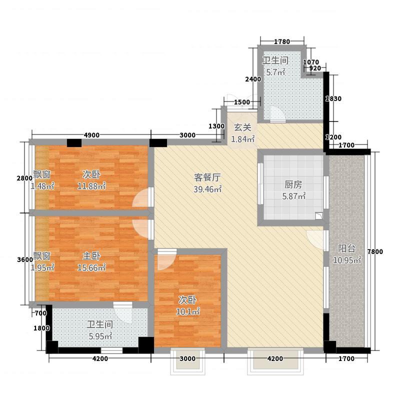 黄金大厦146.00㎡2户型