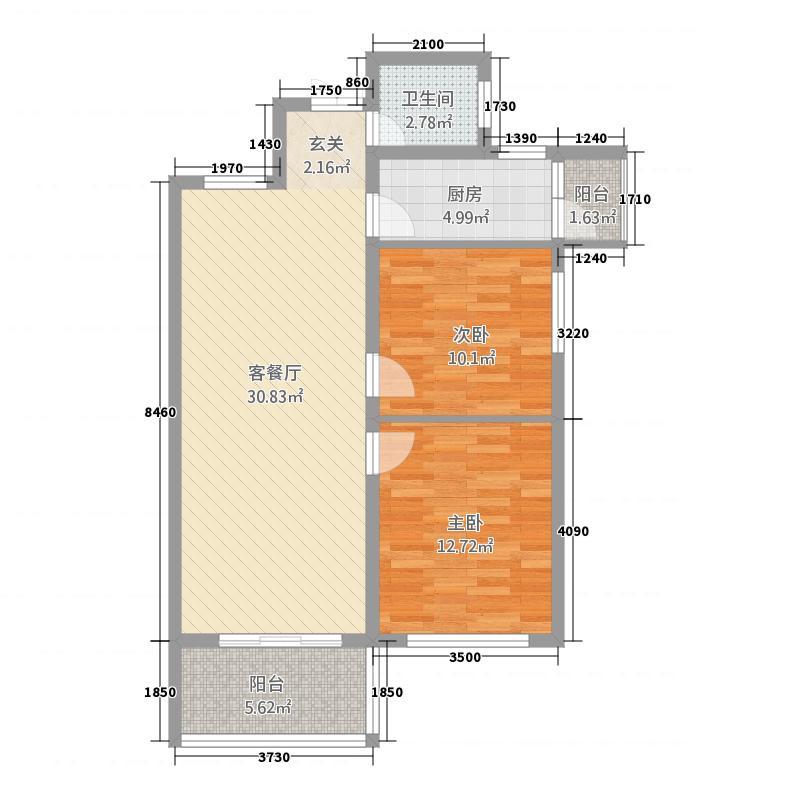 田源新城7.80㎡户型