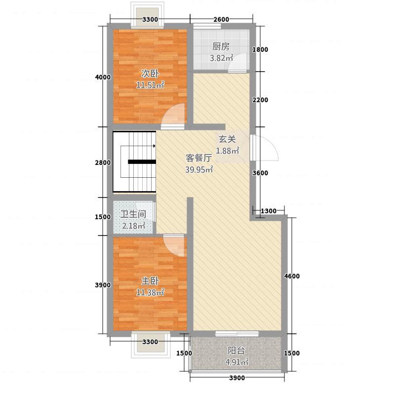 华豪花园洋房143.00㎡5号楼户型3室2厅2卫1厨