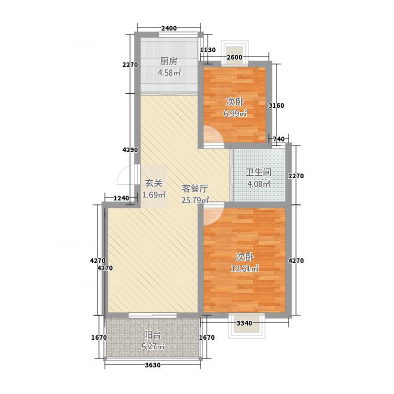 丽华三村续建房8.77㎡2户型2室2厅1卫1厨