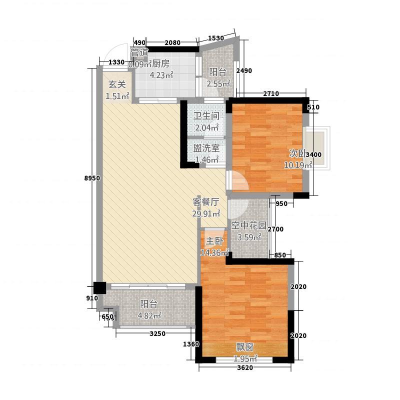 橡树湾325.20㎡B户型3室2厅1卫