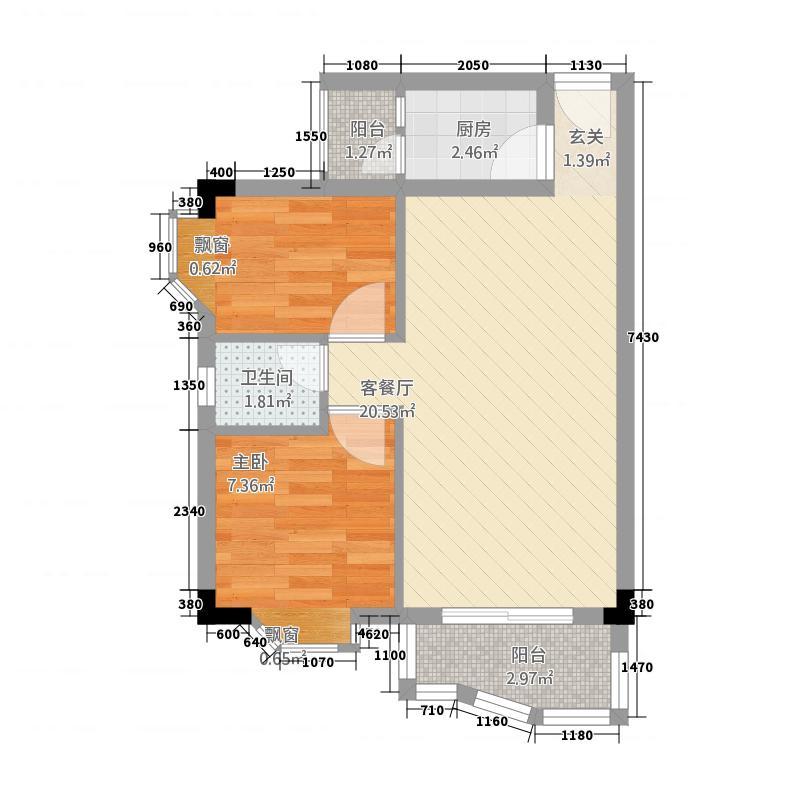 置富花园5.30㎡5户型2室2厅1卫1厨
