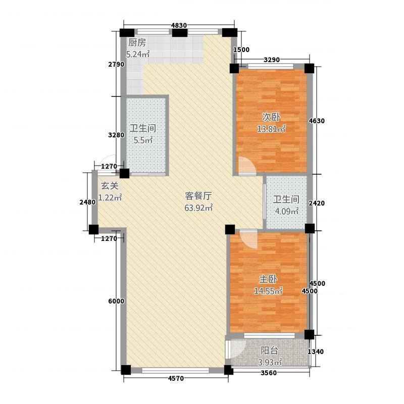 金城・水清源128.70㎡B户型