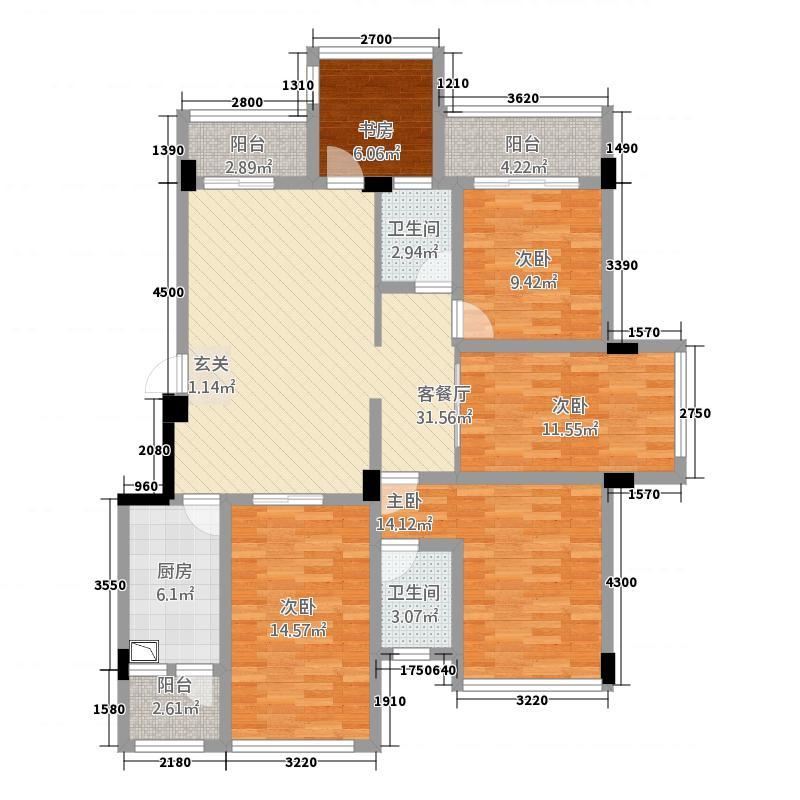 天成国际12.50㎡D2户型4室2厅2卫1厨