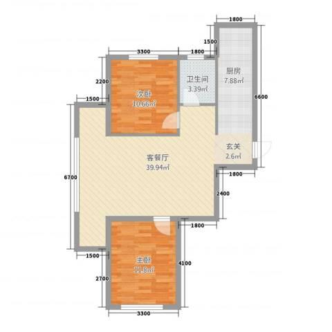 金城・御景2室1厅1卫0厨65.79㎡户型图