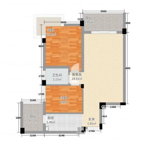 绿雅园2室0厅1卫0厨70.45㎡户型图