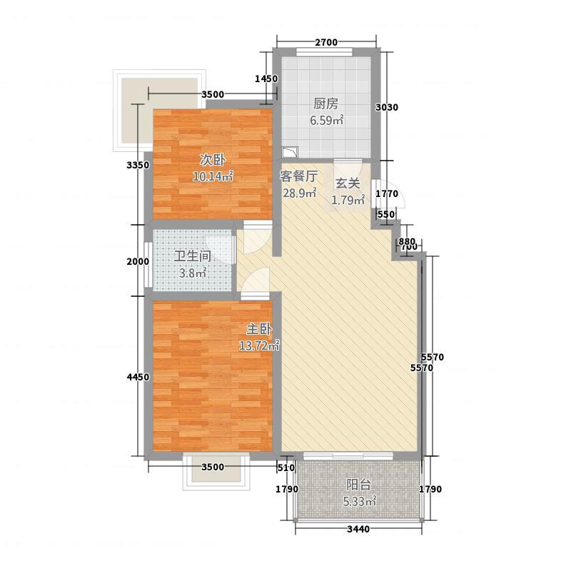体委家属院2居室2户型2室2厅1卫1厨