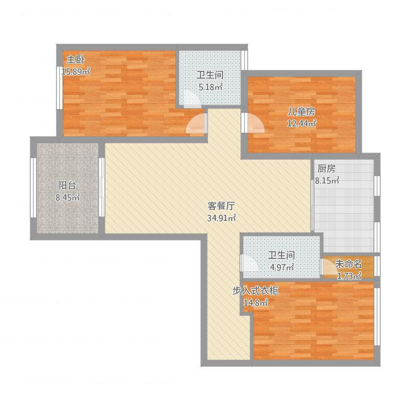 三室两厅一厨两卫120