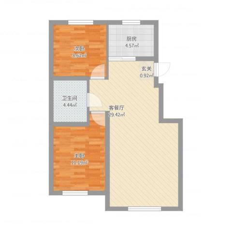 其仕盛和祥2室1厅1卫1厨82.00㎡户型图