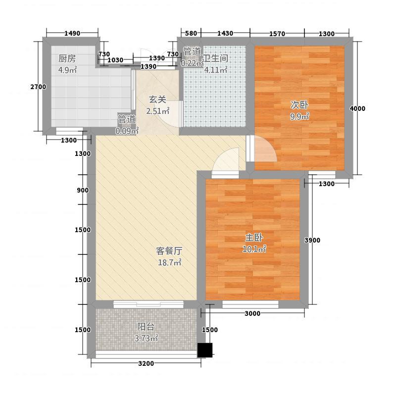 润鑫・公园壹号1#楼两居户型