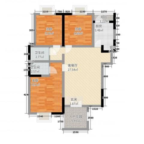 富山・东城海岸3室1厅2卫1厨115.00㎡户型图