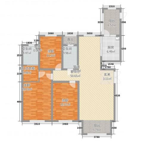 太阳新城3室1厅2卫1厨178.00㎡户型图