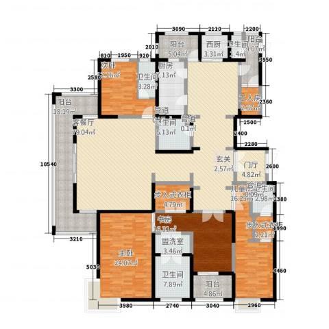 华富世家三期4室2厅5卫1厨333.00㎡户型图