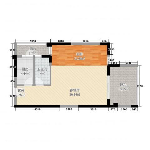 友山公馆1厅1卫1厨273.00㎡户型图