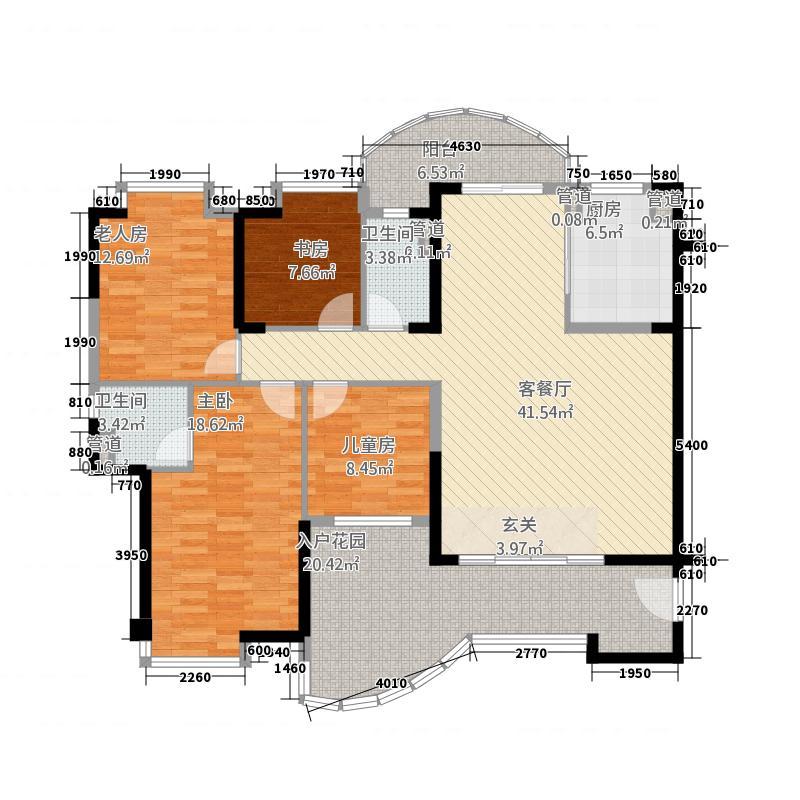 韶关碧桂园158.00㎡浅山J366-03户型4室2厅2卫1厨
