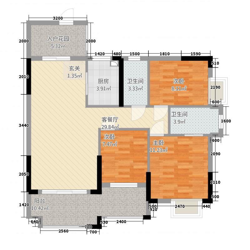 客家新世界A7A902户型3室2厅2卫1厨