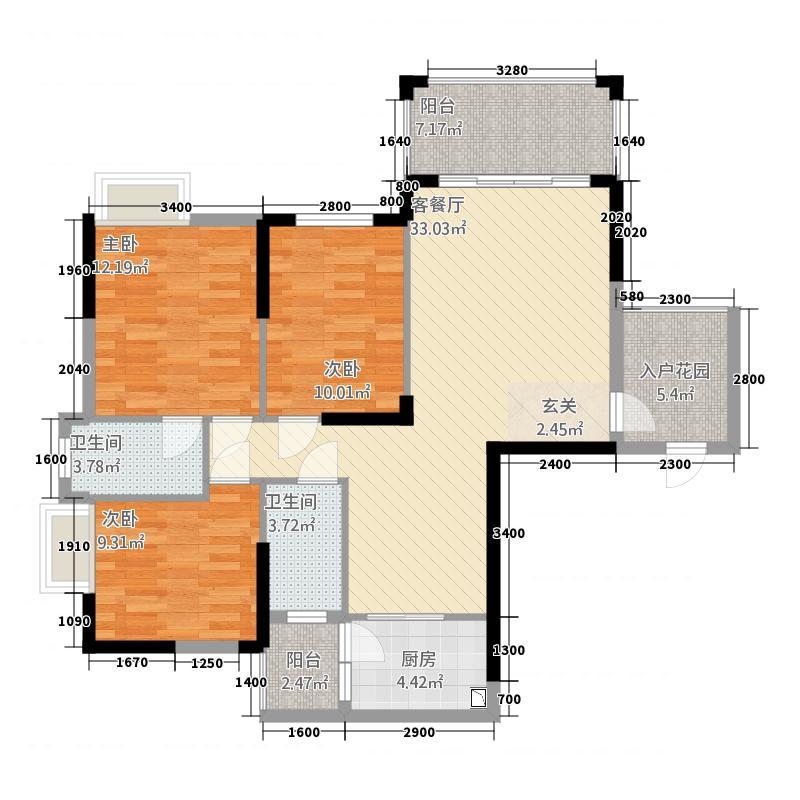 客家新世界115.00㎡A5/03户型2室2厅2卫1厨