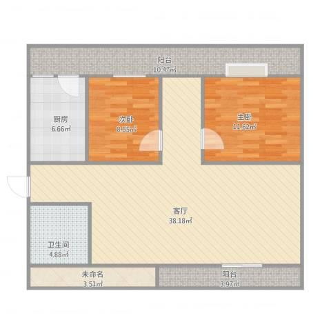 丰德阳光水岸2室1厅1卫1厨119.00㎡户型图