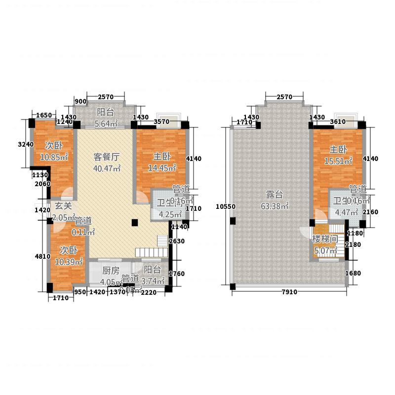 桂鑫园172.00㎡G6-2顶跃户型4室2厅2卫1厨