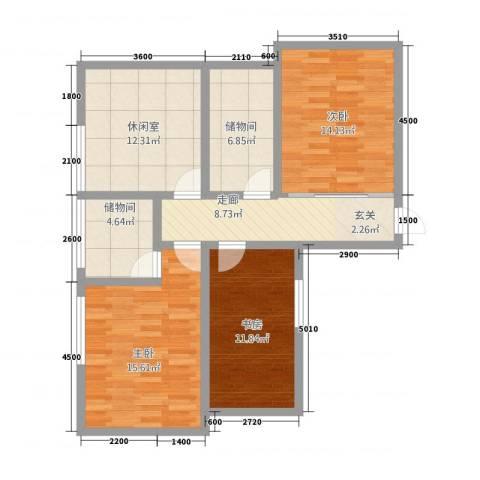 丰林花园3室0厅0卫0厨107.00㎡户型图