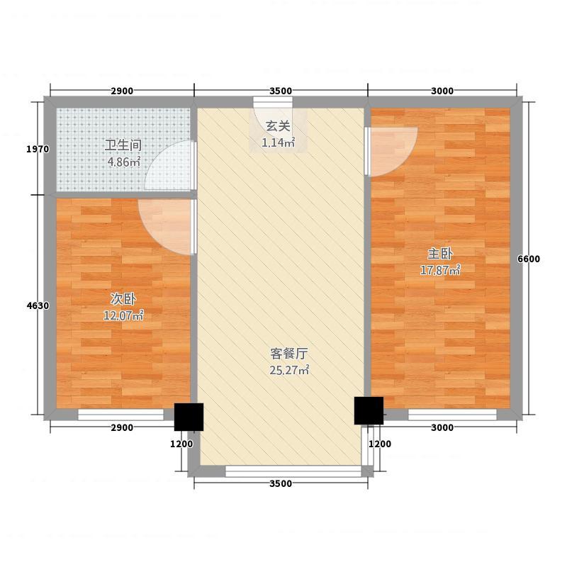 坤达・凌海花园68.85㎡1户型2室1厅